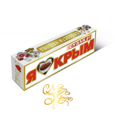 Рахат-лукум. Я люблю Крым. Судак. Белый. 75 гр.