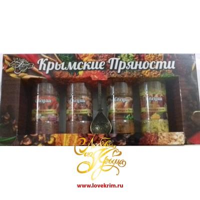 Набор специй. Крымские пряности + ложка. 250 гр.
