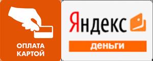 Яндекс-кошелек или картами МИР, Visa, Master Card, Maestro. Рекомендуем для оплаты, так как комиссия  здесь- 0%!